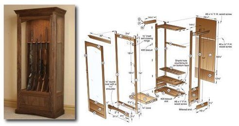 build your own gun cabinet plans